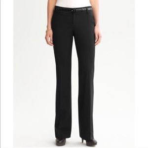 Banana Republic Black Martin Wide Leg Work Trouser